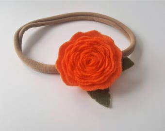 Orange Rose Headband