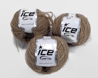 Alpaca yarn, sport yarn, merino wool yarn, Ice yarn, brown yarn, sport weight yarn, light weight yarn