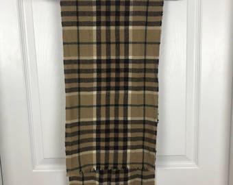 Brown wool Loch Lomond scarf