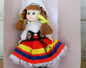 1991 Switzerland Bookcase Collectible Doll -  The New Bright Collection Volume V