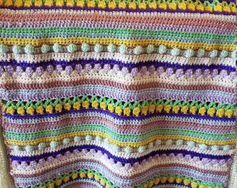 Multi Color Baby Afghan - Ready to be Shipped