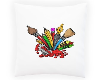 Stationery Writing Painting Tools Pillow Cushion Cover x932p