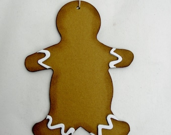 Gingerbread man ornament, country gingerbread man ornament