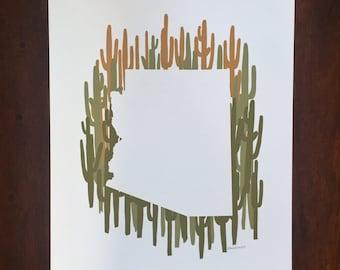 Arizona State Print - Saguaro