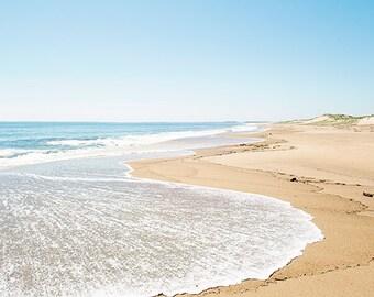 Beach Photography, Ocean Photograph, Aqua Wall Art, Teal Blue, Turquoise, Seaside Coastal Nautical, Beach Landscape, Beach Picture, Sea