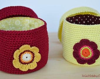 Storage basket storage box crochet box cotton crochet