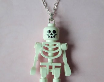 Pendant - skeleton Lego minifigure - skeleton Lego figure