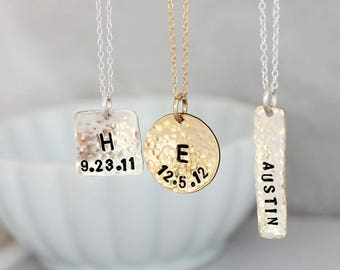 Mommy Jewelry • Gift for mom • Pendant necklace • Dainty name necklace • Monogram initials • Personalized jewelry • Kids names necklace