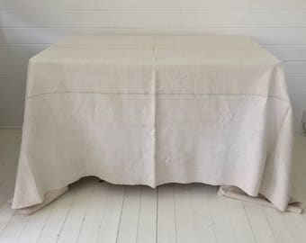 NTS1706 Tablecloth/sheets Linen for Large Tables Small Tables Vintage Fabric Handmade Linen Upholstery