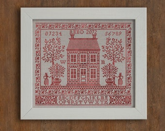 Home Sweet Home - Instant Download PDF cross-stitch embroidery pattern