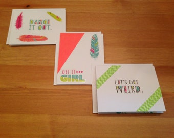 Festival Feather Card Set