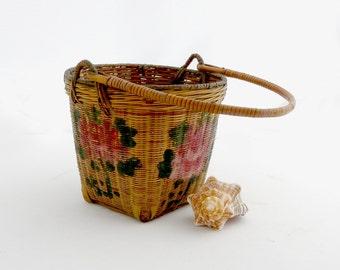 Vintage Chinese Painted Basket