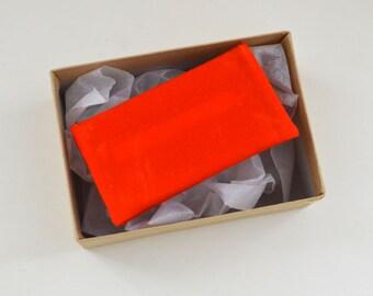 Waxed Canvas Wallet in Orange - mens card holder billfold orange virginia tech hokie clemson tigers gift card holder small money envelope