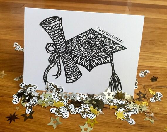 Zentangle - Graduation Card