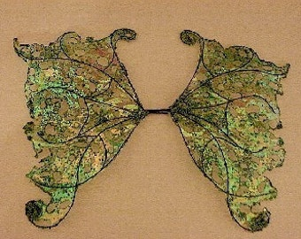 Ooak Fairy Wings-Iridescent-Apple and Key Lime- Dolls, Bears-(Made to Order)