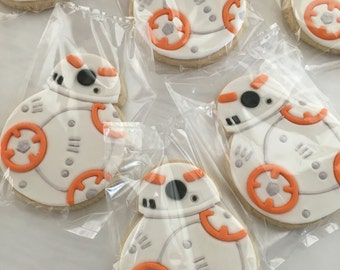 Star Wars Inspired BB-8 Droid Sugar Cookies
