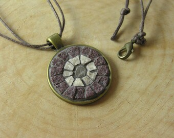Mosaic Pendant with marble tiles, Mosaic Accessories, Mosaic Art Jewelry, Statement Jewelry, Boho, Bohemian Ethnic Mediterranean Pendant