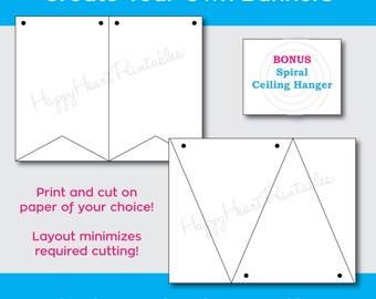 Printable Banner Pattern - Banner Template - Create your own banner