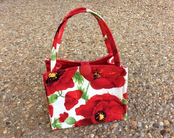 Red Poppies Little Box Bag
