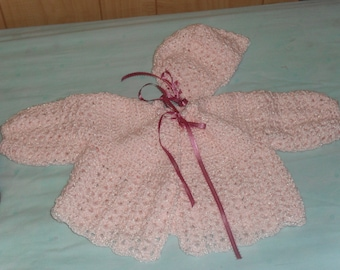 3-6 month pink sweater for baby girl