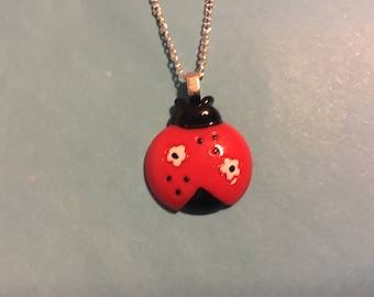 Lady Bug Necklace   X21