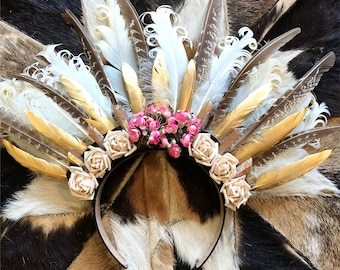 Desert Rose Feather Crown