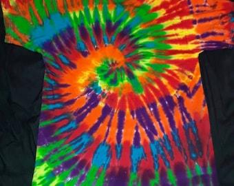 Quality Tie Dye Spiral T Shirt