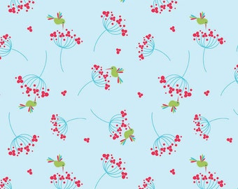 Wildflower Birds in  Red by Riley Blake Designs  - you choose the cut