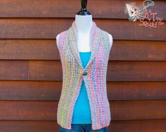 Crochet vest Pattern, Womens crochet top pattern, Crochet vest pattern,, Collared vest, instant download, one piece, easy crochet pattern