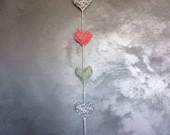 fabric heart Garland