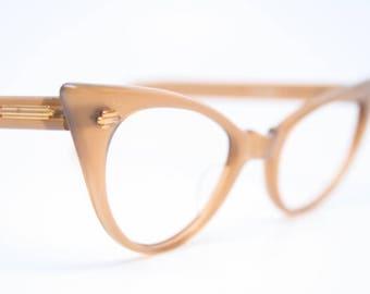 Vintage Rust Pointy Cat Eyeglasses