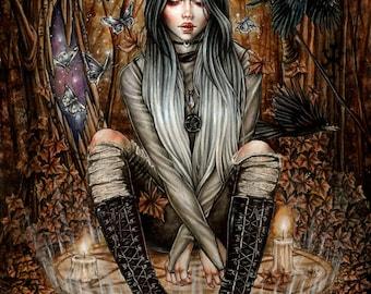 Magic Portals 8x10 Print Goth Fantasy Art by Enys Guerrero
