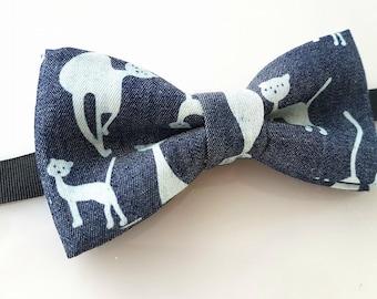 Bow tie with cats- Bow tie with cat- bowtie with cats- bowtie with cat- Cotton bow tie- Funny bowtie- Cat bow tie- crazy bowtie
