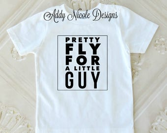 Boys Shirt, Pretty Fly for a Little Guy Shirt, Toddler Boys Shirt, Baby Boys Clothes, Toddler Boys Clothes, Kids Graphic Tee