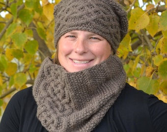 KNITTING PATTERN PDF Hat and Scarf Set - Knitting pattern Hat - Knitting Pattern Scarf - Knit pattern hat and scarf