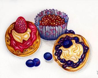 Cupcake Birthday Invitations Pack of 10