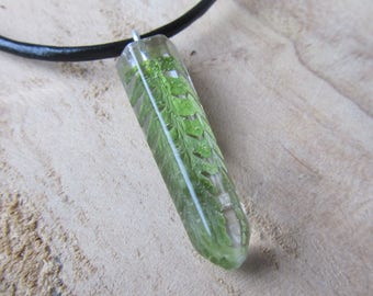 fern necklace, mens nature necklace, mens jewelry, resin necklace, fern resin necklace, resin jewelry, fern necklace, fern jewelry, nature
