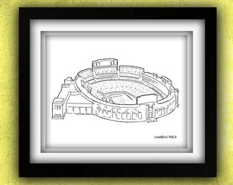 Green Bay Lambeau Field Print (Clearance)