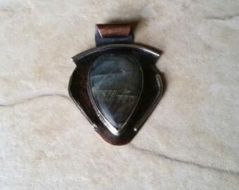 Labradorite Pendant, Mixed Metal