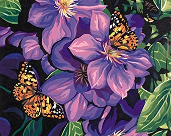 Clematis & Butterflies Paint By Number Dimensions Needlecrafts Paintworks