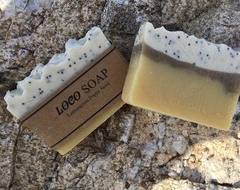 Lemongrass Poppyseed -  Handmade Cold Processed  Soap