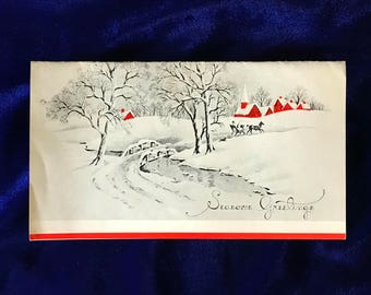 1930's Christmas Card from Cletus the Milkman Red Village