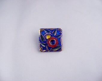 Art Deco Czech Glass Button  NF4/187