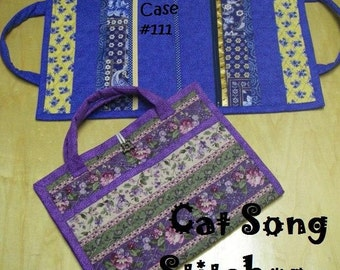 Attache Case, brief case, paper file, organizer,child's activity tote- sewing instructions/pattern-pdf