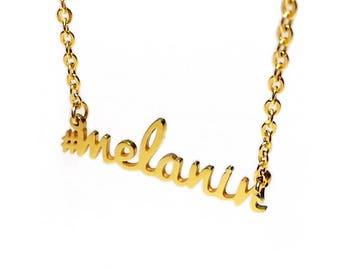 Melanin Necklace 18K Gold Plated