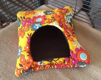 Bright Yellow, Floral, Rat Bedding, Mouse Bedding, Snuggle Sack, Mice, Mouse Cage, Rat Cage, Rat Accessories, Small Animal, Nesting