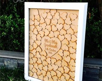 Wedding Guest Book | Alternative Wedding Guest Book | Drop Box | Alternative Rustic Guest Book | Wedding Gift - Deluxe Rectangle Guest Book
