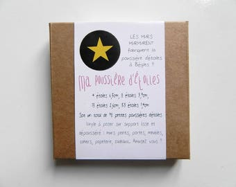 My Stardust - 78 stickers stars yellow pouch