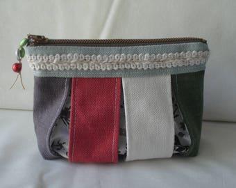 Bellows linen clutch