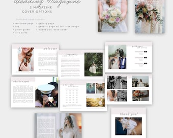 Wedding Magazine Photography Template | Photographer | Templates